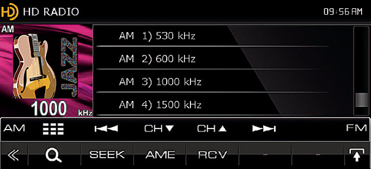 HD Radio Screen DNX Screen Shot